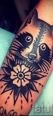 Тату енот – фото готовой татуировки для материала про значение 27