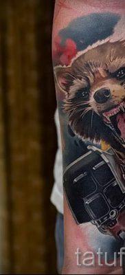 Тату енот – фото готовой татуировки для материала про значение 28