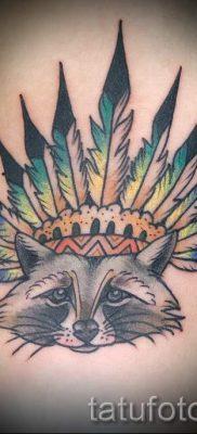 Тату енот – фото готовой татуировки для материала про значение 34