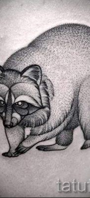 Тату енот – фото готовой татуировки для материала про значение 38