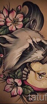 Тату енот – фото готовой татуировки для материала про значение 39