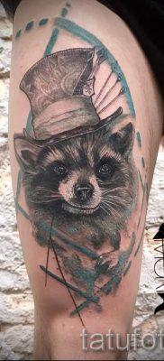 Тату енот – фото готовой татуировки для материала про значение 4