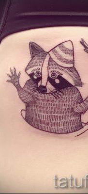 Тату енот – фото готовой татуировки для материала про значение 41