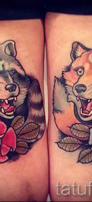 Тату енот – фото готовой татуировки для материала про значение 42