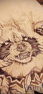Тату енот – фото готовой татуировки для материала про значение 45