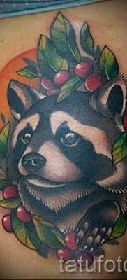 Тату енот – фото готовой татуировки для материала про значение 5