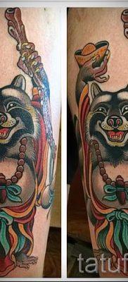 Тату енот – фото готовой татуировки для материала про значение 50
