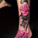 женские тату кружева - фото пример готовой татуировки 2