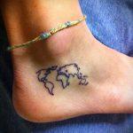 красивые тату на лодыжке женские - классные фото готовой татуировки 7