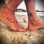 маленькие тату на лодыжке - классные фото готовой татуировки 12