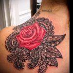 тату в стиле кружево - фото пример готовой татуировки 1