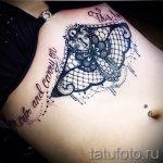 тату в стиле кружево - фото пример готовой татуировки 2