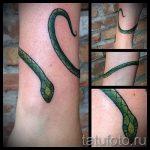 тату для девушек на лодыжке змея - классные фото готовой татуировки 6
