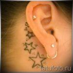 тату за ухом для девушек - фотографии вариантов готовых татуировок 2