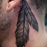 тату за ухом для мужчин - фотографии вариантов готовых татуировок 4