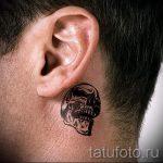 тату за ухом для мужчин - фотографии вариантов готовых татуировок 5
