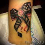 тату кружевной бант - фото пример готовой татуировки 12