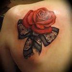 тату кружевной бант - фото пример готовой татуировки 8