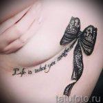 тату кружевной бант - фото пример готовой татуировки 9