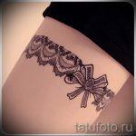 тату кружевной браслет - фото пример готовой татуировки 1