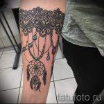 тату кружево на руке - фото пример готовой татуировки 1