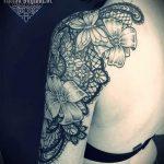тату кружево на руке - фото пример готовой татуировки 7