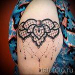 тату кружево на руке - фото пример готовой татуировки 8