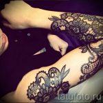 тату кружево на руке - фото пример готовой татуировки 9