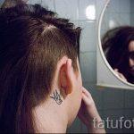 тату ласточки за ухом - фотографии вариантов готовых татуировок 45