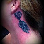 тату ловец снов за ухом - фотографии вариантов готовых татуировок 13