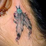 тату ловец снов за ухом - фотографии вариантов готовых татуировок 8