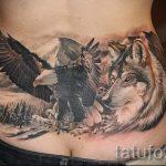тату на копчике - фото пример готовой татуировки на теле 15