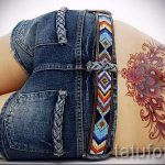 тату на копчике - фото пример готовой татуировки на теле 7