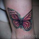 тату на лодыжке бабочка - классные фото готовой татуировки 3