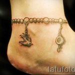 тату на лодыжке браслет - классные фото готовой татуировки 10