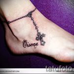 тату на лодыжке браслет - классные фото готовой татуировки 11