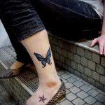 тату на лодыжке для девушек - классные фото готовой татуировки 3