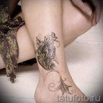 тату на лодыжке женские - классные фото готовой татуировки 11