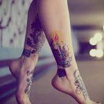 тату на лодыжке женские - классные фото готовой татуировки 14