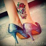 тату на лодыжке женские - классные фото готовой татуировки 16