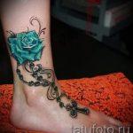 тату на лодыжке женские - классные фото готовой татуировки 2