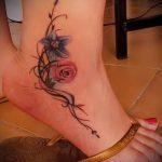 тату на лодыжке женские - классные фото готовой татуировки 26