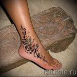 тату на лодыжке женские - классные фото готовой татуировки 28