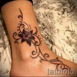 тату на лодыжке женские - классные фото готовой татуировки 31