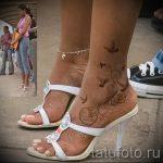 тату на лодыжке женские - классные фото готовой татуировки 8