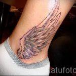 тату на лодыжке крылья - классные фото готовой татуировки 10