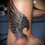 тату на лодыжке крылья - классные фото готовой татуировки 4