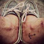 тату на лодыжке мужские - классные фото готовой татуировки 12