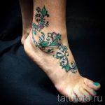 тату на лодыжке узоры - классные фото готовой татуировки 1