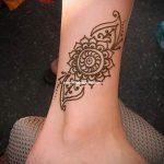 тату на лодыжке узоры - классные фото готовой татуировки 2